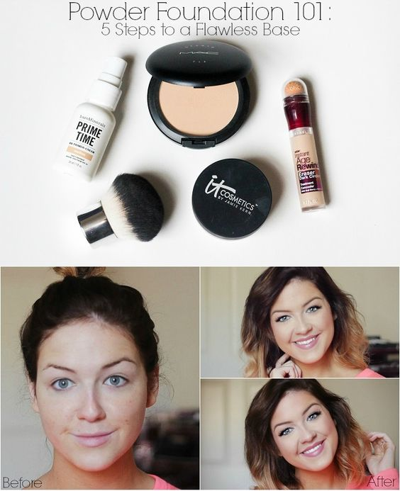 Learning to switch from liquid to powder foundation. This girl shows you how to have an easy and flawless transition!