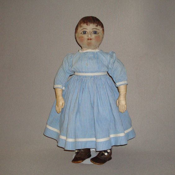 Antique Cloth Doll with oil painted face