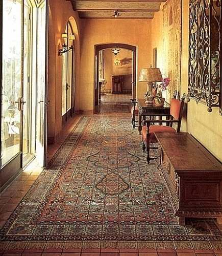 Loggia With Persian Rug Design Floor Tiles The Adamson House Malibu
