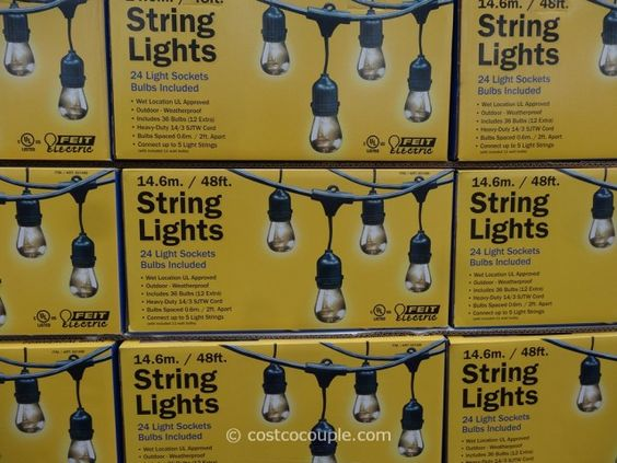 Feit String Lights Ideas : Best outdoor string lights! USD 59 costco Feit Electric 48 Ft Home. Pinterest String lights ...