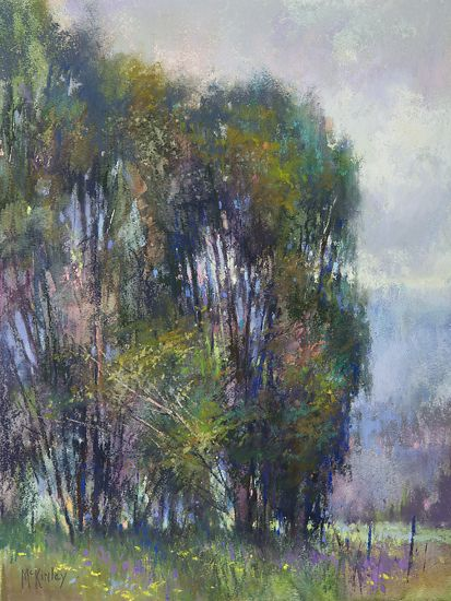 Against the Wind by Richard McKinley Pastel ~ 12 x 9