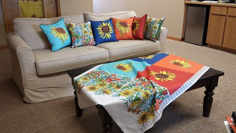 Sunflowers By The Yard – Kathy Deggendorfer Designs