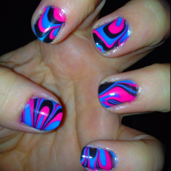 """""""Groovy Baby"""" water marble"""