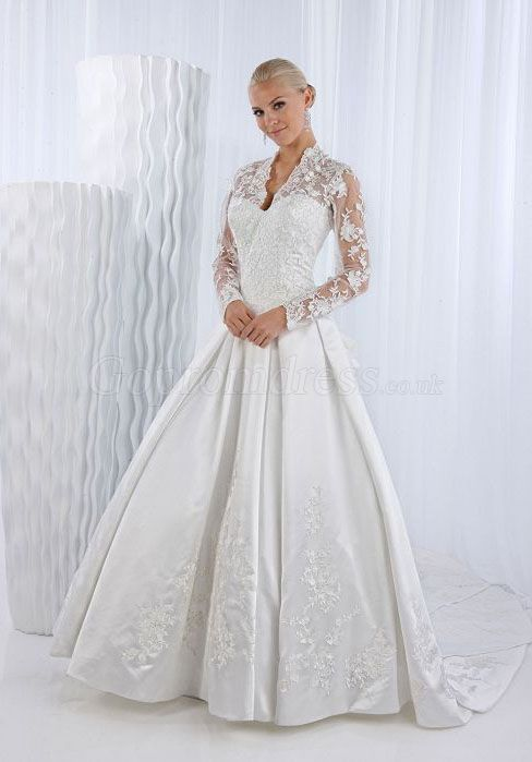 Reminds me of kate middleton39s wedding dress i39d like a for Wedding appropriate dresses