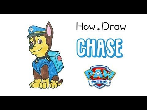 How To Draw Chase From Paw Patrol Youtube In 2020 Paw Patrol Characters Paw Drawing Paw Patrol Coloring