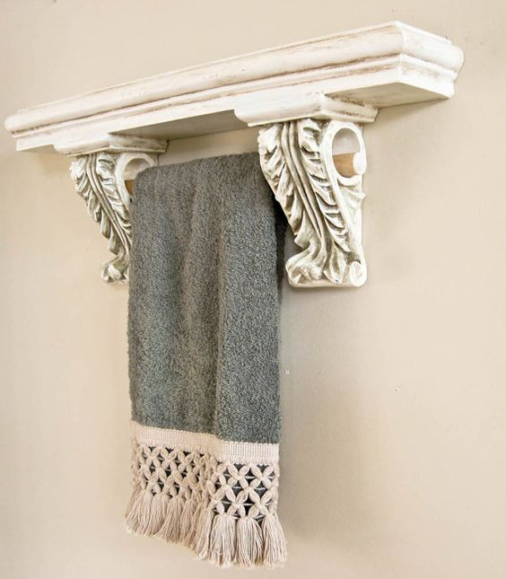 French country wall shelves and towel bars on pinterest for French country shelves