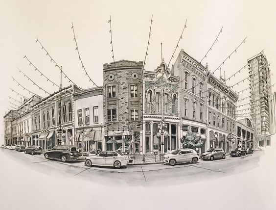 Paul Heaston, Larimer Square, Denver | *Not* sketched on location. Winsor & Newton Pigment Markers and Micron pens.