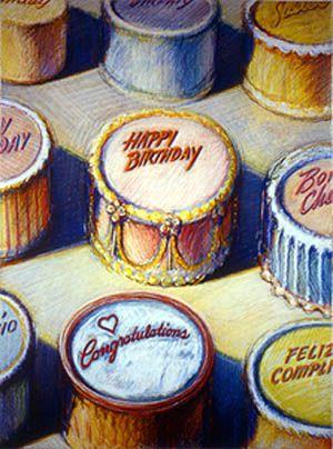 """Celebration Cakes,"" by Wayne Thiebaud"