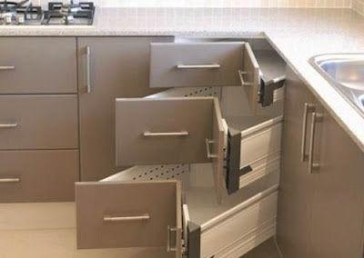 Buena solucion para esquinas en muebles de cocina deco - Muebles de cocina esquineros ...