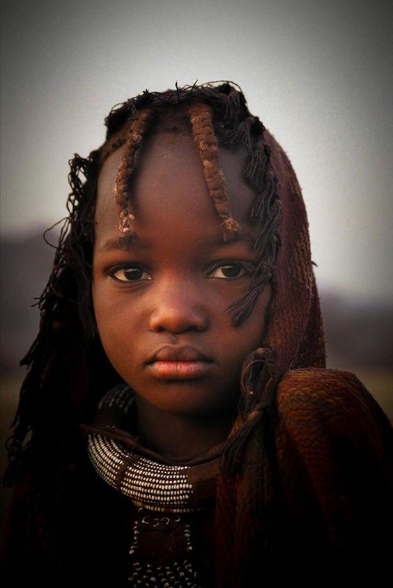 Africa | Portrait of a Himba girl, Namibia | © Dori Caspi: