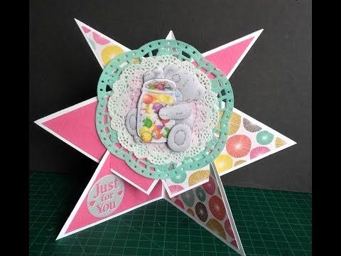 Star Shaped Easel Card Tutorial Youtube Easel Cards Shaped Cards Star Cards