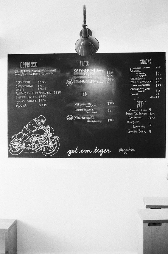 Go Get Em Tiger, Los Angeles #blackboard #menuboard