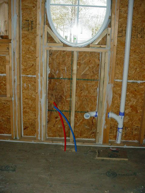 Kitchen sink pex plumbing drain check out the caulk for Using pex for drain lines