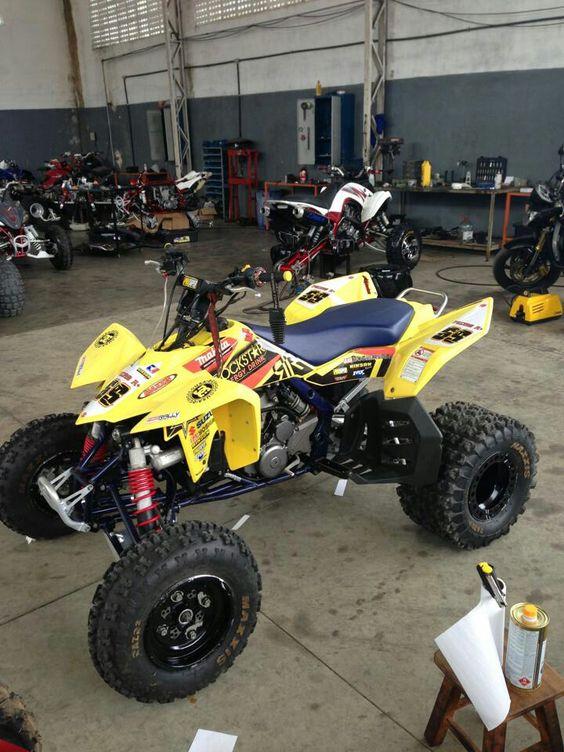 Honda 4 Wheeler Yellow >> Suzuki LTR 450 rockstar / makita atv graphics kit by ...