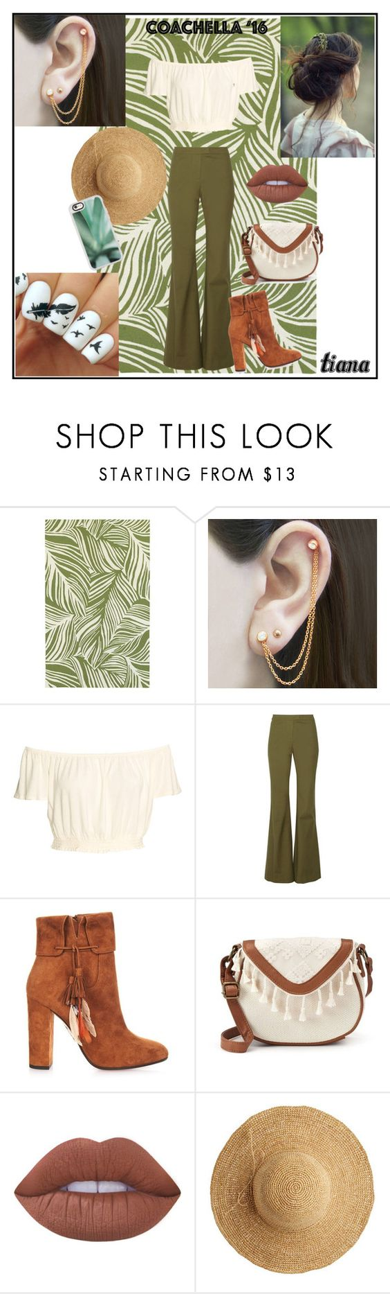 """Coachella (Tiana)"" by disneyprincessess4life ❤ liked on Polyvore featuring Oriental Weavers, Embers Gemstone Jewellery, 10 Crosby Derek Lam, Aquazzura, T-shirt & Jeans, Lime Crime, Flora Bella and Casetify"