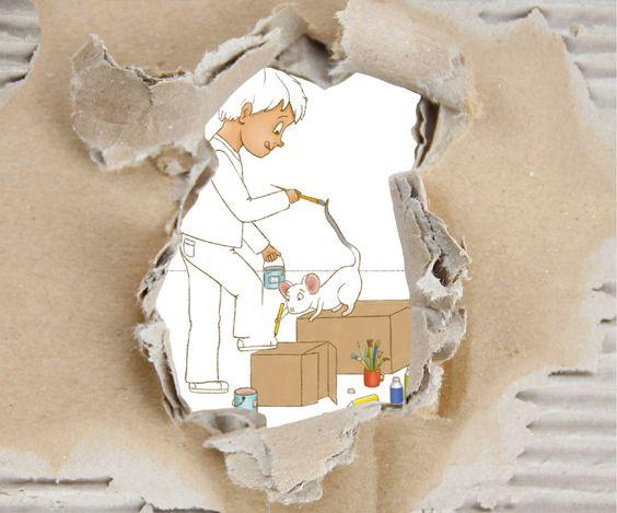 PAUL PAPPE und Maus — Abenteuer im Pappkarton | ein Kinderbuch von Nadine Nordhoff und Jan Rodorf #kinderbuch #vorlesebuch #illustration #selbstbaubuch #basteln #pappe #abenteuer