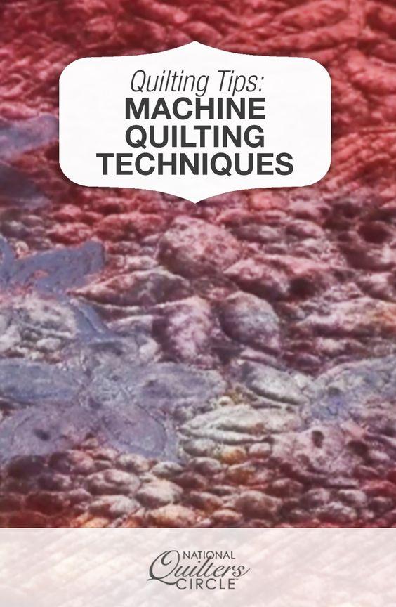 easy machine quilting techniques