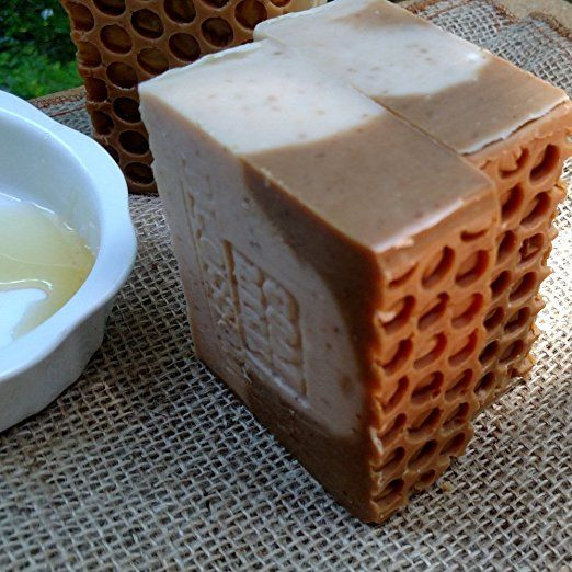 Amazon.com: Goat's Milk Soap with Golden Blossom Honey and Oatmeal (Exfoliant) Made with Local Farm Fresh Goat Milk 7 Ounce: Health & Personal Care