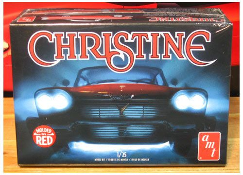 Amt Christine 58 Plymouth 1 25 Scale Molded In Red Plastic Car
