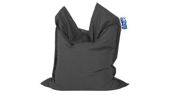 Sitzsack Big Foot Scuba, in Anthrazit, aus Kunststoff Stoff, Magma sitting point, anthrazitfarbener Kunstfaserbezug - ca. 130 x 170 cm, das fröhliche m Saarlouis