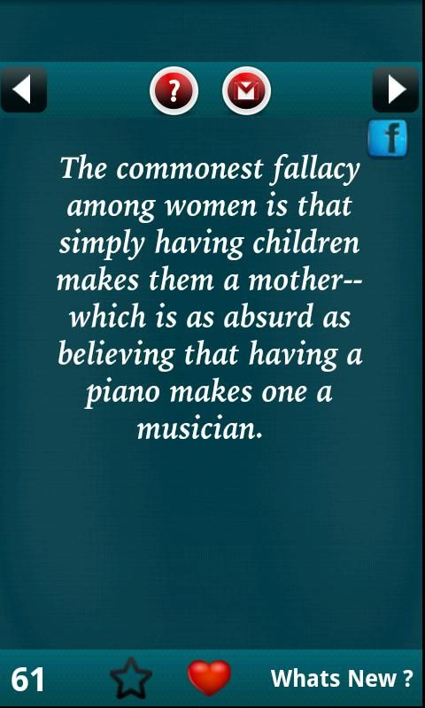 Very true. Being a real mother is, I'm quite sure, the most difficult job in the world.