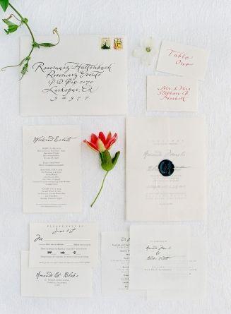Stationery, Olive - Route, Photo: Jose Villa - California Wedding http://caratsandcake.com/amandaandblake