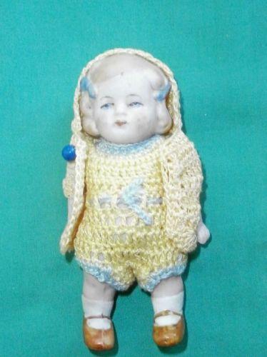 Puppenstubenpuppe-bisquitporz-Antik-abarca-11-cm-dollh-Doll-bisque-abarca