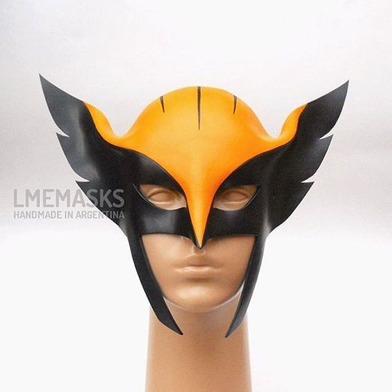 Hawkgirl Leather Mask Justice League Unlimited Cosplay by LMEmasks