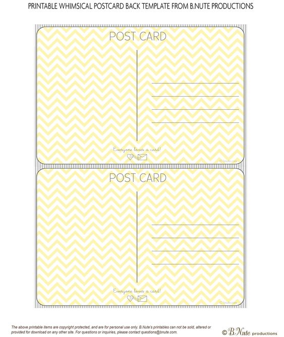 bnute productions Scrapbook Paper Ideas Perfect Postcards - postcard template free printable