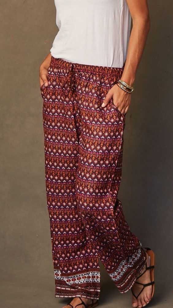 Our favorite loungewear in beautiful prints that are also perfect as a casual outfit for a cozy fall. Every pair empowers the women who made them through living-wage employment. Fashion for good!