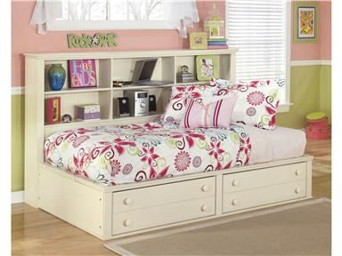 """Shop for Signature Design Twin Bookcase Side Rails, B213-90, and other Youth Bedroom Bed Rails at Ashley Furniture HomeStore in Glendale AZ, Avondale AZ, Casa Grande AZ, Scottsdale AZ, Mesa AZ, Phoenix AZ, Flagstaff AZ, 86004, 85044, 85210, 85054, 85222, 85323, 85308. The """"Cottage Retreat"""" youth bedroom collection takes early American country design to create a fun and inviting cottage retreat perfect for any childs bedroom."""
