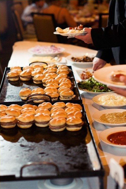 How To Serve Burgers And Fries As Late Night Wedding Snacks Buffet Food Wedding Snacks Wedding Food Bars