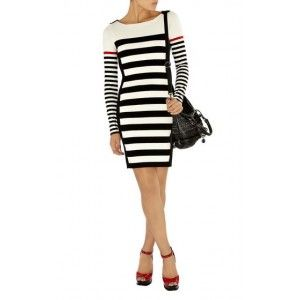 Karen Millen Block Stripe Knit Dress Km170 Online If you like it, you can click on the pictures to our website to buy, product all have stock