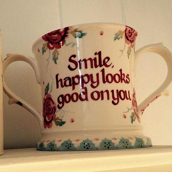 Personalised Rose & Bee Two Handled Mug at Emma Bridgewater