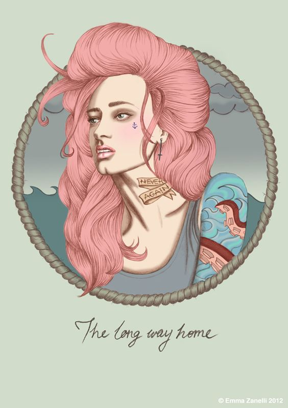 The Long Way Home - Kiss The Devil - Illustration by Emma Zanelli