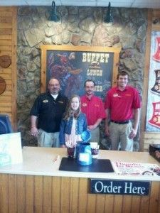 Pizza Ranch restaurants in Eastern Iowa raised money for the Muscular Dystrophy Association this spring. Thank you to guests and staff who purchased Shamrocks! Pizza Ranch in Newton sold the most Shamrocks, and along with tips donated by the staff, this location alone raised over $800, enough to send a child to camp!