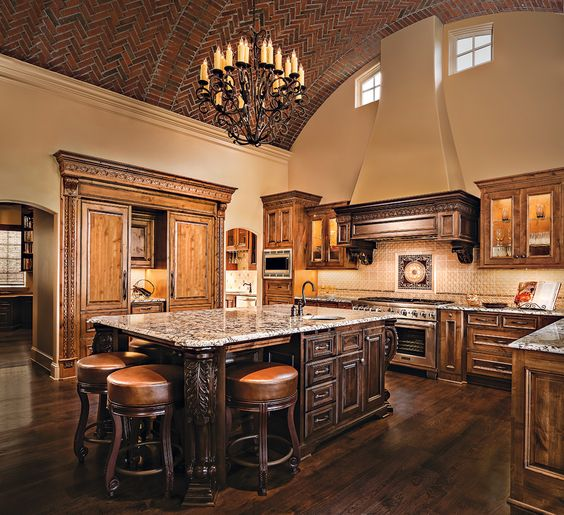 Tuscany bricks and interiors on pinterest for Kitchen cabinets kansas city