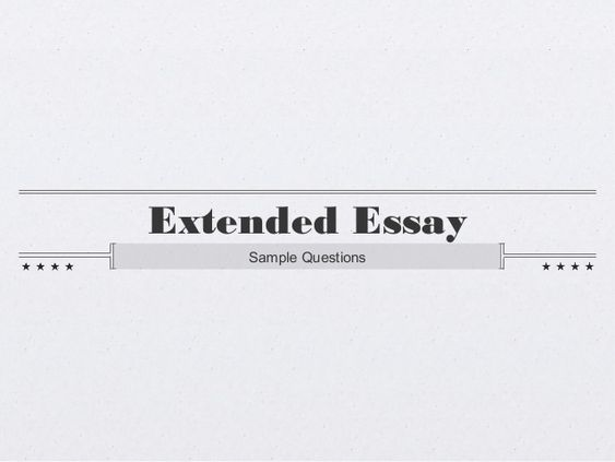 Charmant Extended Essay In Science Cefavis Com Ib Extended Essay English Topics