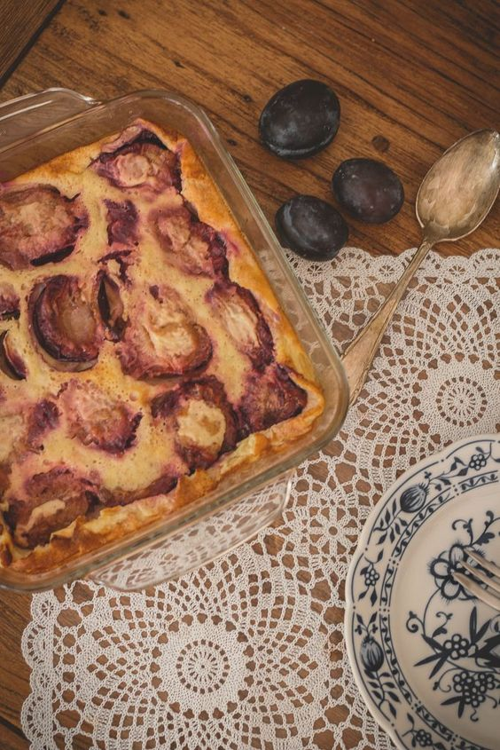 Pflaumen Clafoutis - Healthy Soulfood