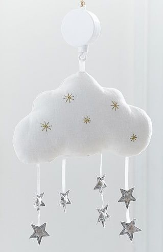 rain cloud nursery mobile