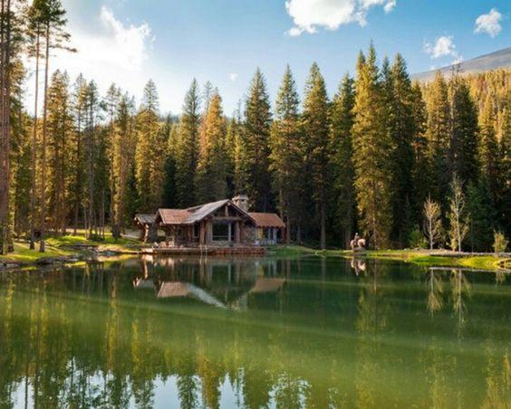 Image Gallery Log Cabin Mountain Lake