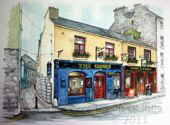 The Quays Pub, Galway City, Co. Galway | Roisin O'Shea Fine Arts