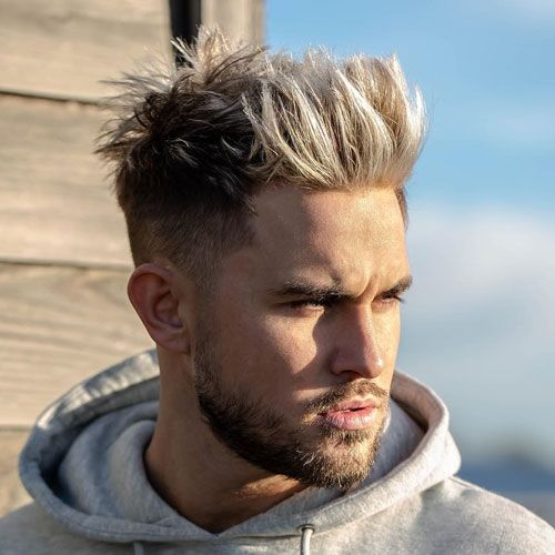 45 Best Spiky Hairstyles For Men 2020 Guide Men Blonde Hair Long Hair Fade High Fade Haircut