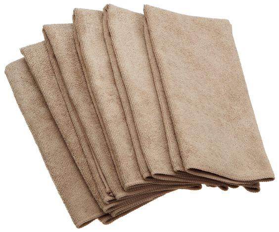 Dii Kitchen Millenium Microfiber Kitchen Towel Set Of 6 Taupe Brown Microfiber