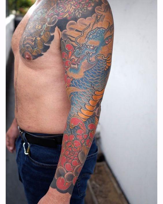 195 Likes 1 Comments Guru Tattoo Gurutattoo On Instagram Healed Kirin And Chrysanthemum Sleeve By Jcaramtattoo Suc In 2020 Guru Tattoo Tribal Tattoos Tattoos