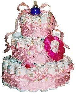 Easy steps to making the perfect Diaper Cakes