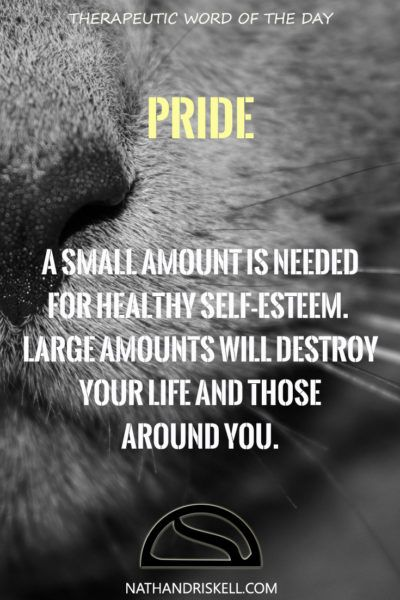 Pride is measured in extremes. Too little and you have nothing. Too much and you…