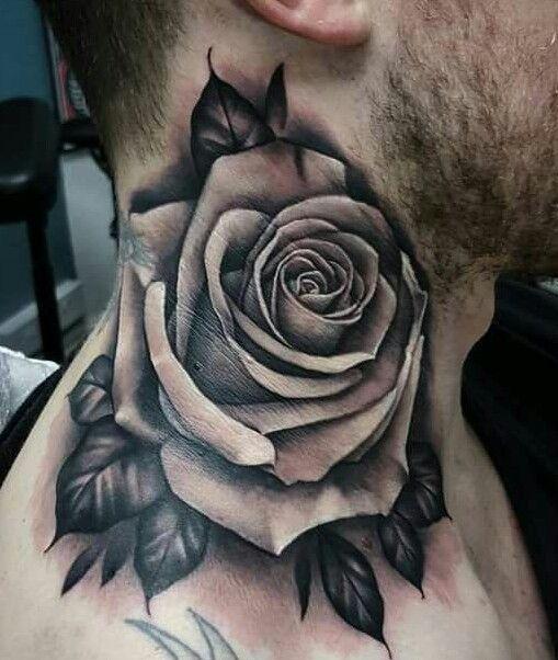 Tatuajes De Rosas Para Hombre Impresionantes 372 Fotos Tatuajes De Rosas Tatuajes De Rosas Para Hombres Tatuaje De Rosa En El Cuello