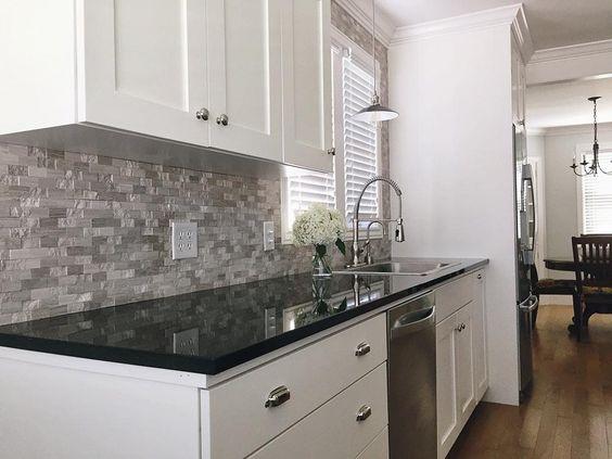 BuildDirect – Granite Countertops  – Black Galaxy - Kitchen View