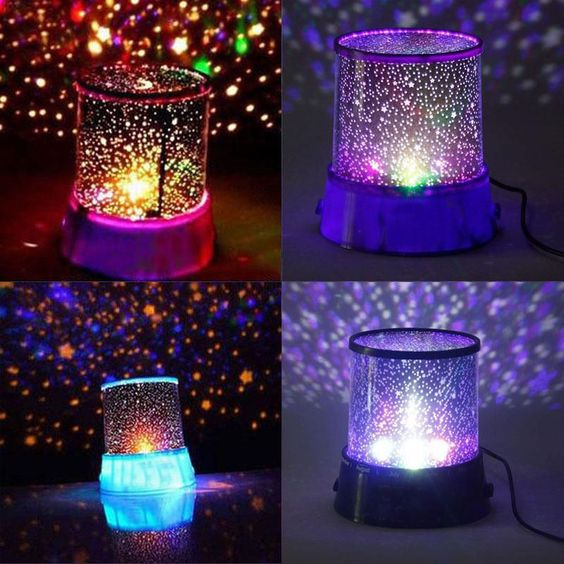 The LED star night light is a small light with a big personality. Simply switch it on and enjoy the awesome effect as stars are projected into your room. Battery operated, the hypnotic star night ligh